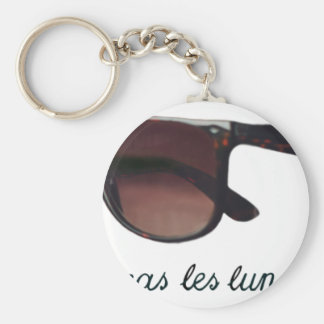 These are note sunglasses basic round button keychain