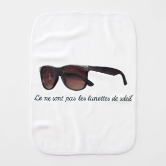 These are note sunglasses burp cloth