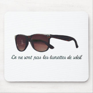 These are note sunglasses mouse pad