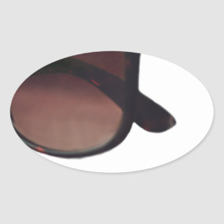 These are note sunglasses oval sticker