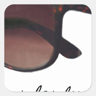 These are note sunglasses square sticker