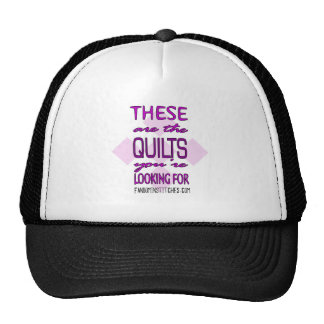 These Are The Quilts You're Looking For (purple!) Trucker Hat