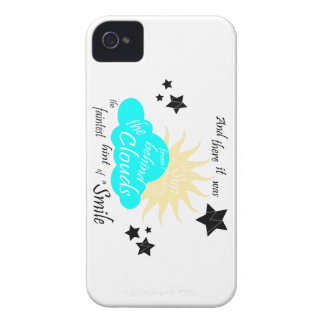 """These Broken Stars """"Smile"""" Quote iPhone 4 Case-Mate Case"""