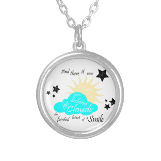 "These Broken Stars ""Smile"" Quote Silver Plated Necklace"