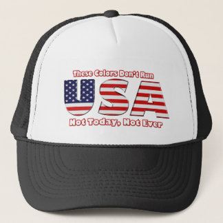 These Colors don't Run America Trucker Hat