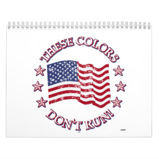 These Colors Don't Run! American Flag & Stars Calendar