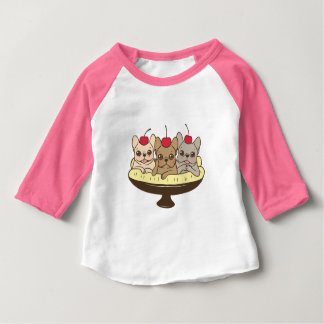 These Frenchies want to be your sweet banana split Baby T-Shirt