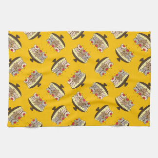 These Frenchies want to be your sweet banana split Kitchen Towel