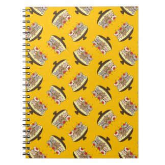 These Frenchies want to be your sweet banana split Notebooks
