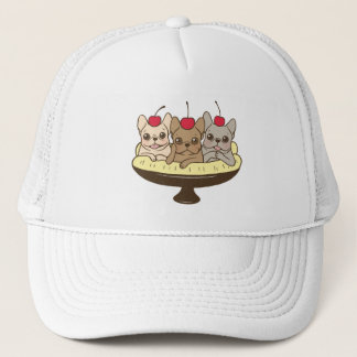 These Frenchies want to be your sweet banana split Trucker Hat