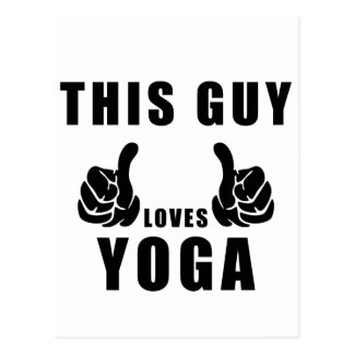 these guy loves yoga postcard