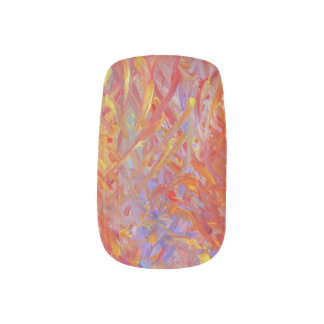 These nails are on fire! minx nail art