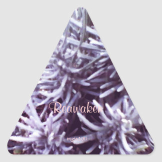 These Quiet Seasons February Lavendar Triangle Sticker
