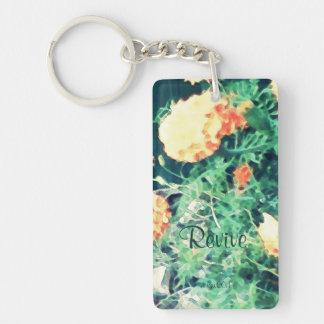 These Quiet Seasons June Marigolds Double-Sided Rectangular Acrylic Keychain