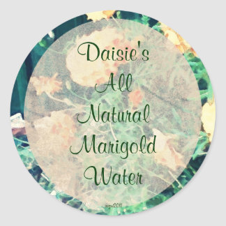These Quiet Seasons June Marigolds Handmade Round Sticker
