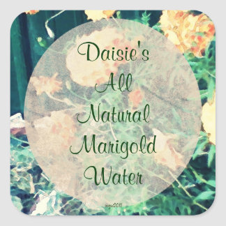 These Quiet Seasons June Marigolds Handmade Square Sticker