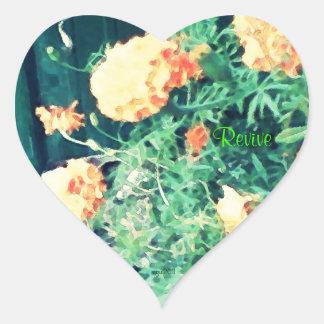These Quiet Seasons June Marigolds Heart Sticker