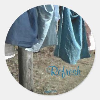 These Quiet Seasons March clothesline Round Sticker