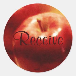 These Quiet Seasons November Apples Round Sticker
