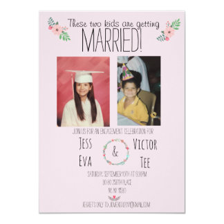 These two kids are getting married! card
