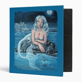 these waters deep mermaid artwork binder