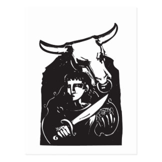 Theseus and the Minotaur Postcard