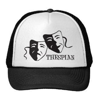 thespian black trucker hat