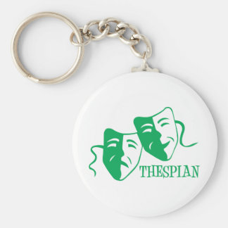 thespian green keychain