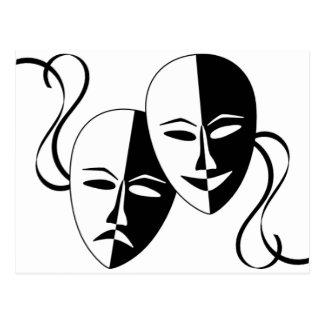 Thespian Masks Postcard