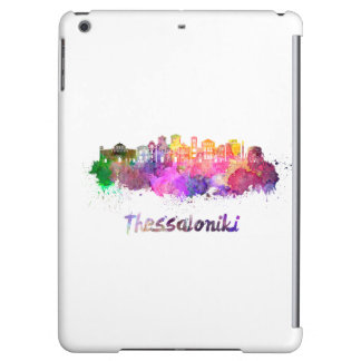 Thessaloniki skyline in watercolor iPad air cover