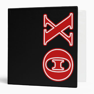 Theta Chi Red Letters 3 Ring Binder