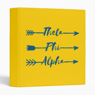 Theta Phi Alpha Arrow 3 Ring Binder