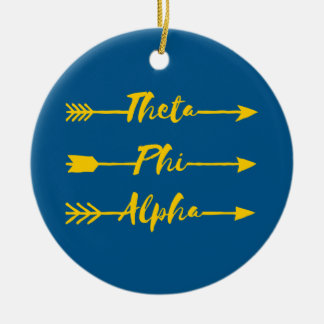 Theta Phi Alpha Arrow Ceramic Ornament