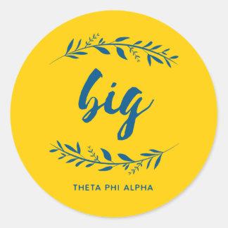 Theta Phi Alpha Big Wreath Classic Round Sticker
