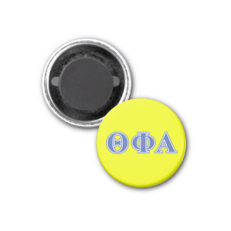 Theta Phi Alpha Blue Letters 1 Inch Round Magnet