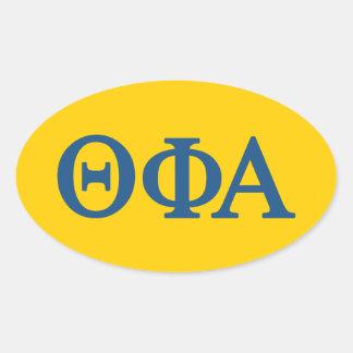 Theta Phi Alpha Lil Big Logo Oval Sticker
