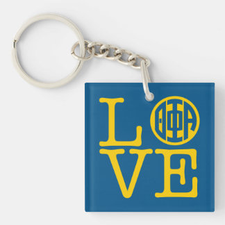 Theta Phi Alpha Love Keychain