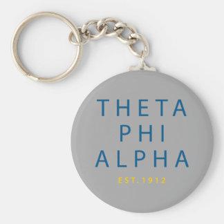 Theta Phi Alpha Modern Type Keychain