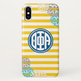 Theta Phi Alpha   Monogram Stripe Pattern iPhone X Case