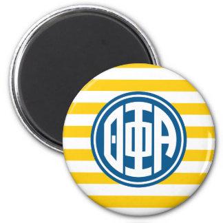 Theta Phi Alpha | Monogram Stripe Pattern Magnet