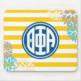 Theta Phi Alpha | Monogram Stripe Pattern Mouse Pad