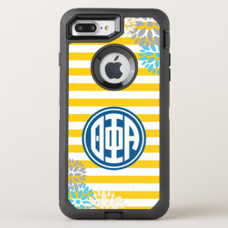 Theta Phi Alpha | Monogram Stripe Pattern OtterBox Defender iPhone 7 Plus Case