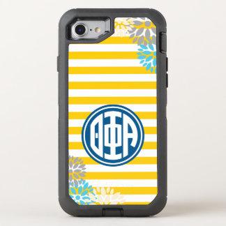 Theta Phi Alpha | Monogram Stripe Pattern OtterBox Defender iPhone 8/7 Case