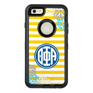 Theta Phi Alpha | Monogram Stripe Pattern OtterBox Defender iPhone Case