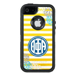 Theta Phi Alpha | Monogram Stripe Pattern OtterBox Defender iPhone Case