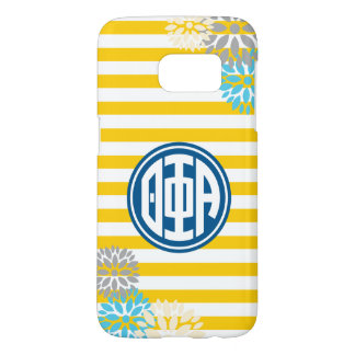 Theta Phi Alpha | Monogram Stripe Pattern Samsung Galaxy S7 Case