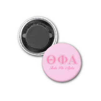 Theta Phi Alpha Pink Letters 1 Inch Round Magnet