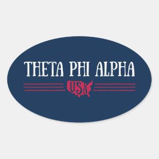Theta Phi Alpha USA Oval Sticker