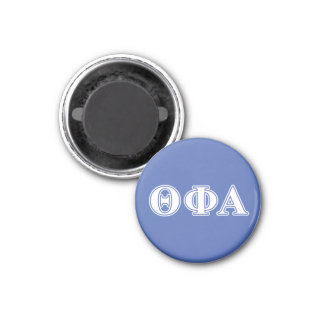 Theta Phi Alpha White and Blue Letters 1 Inch Round Magnet