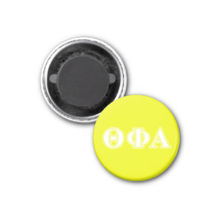 Theta Phi Alpha White and Yellow 1 Inch Round Magnet